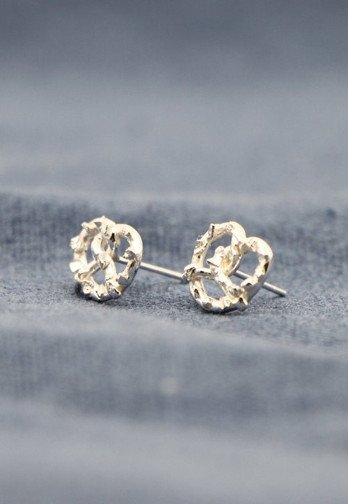 Germany knot bread. Silver Earrings