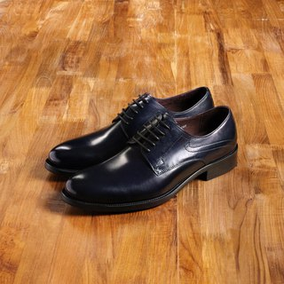 Vanger elegant beauty ‧ minimalist style Derby leather shoes Va140 stylish dark blue