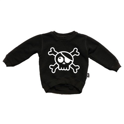 2014 autumn and winter NUNUNU big black skull casual shirt