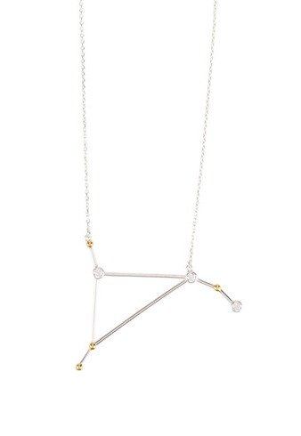 Aries Necklace - white gold