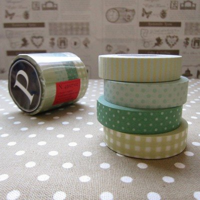 Kurashiki artistic conception and paper tape 4P [green line (45027-02)]