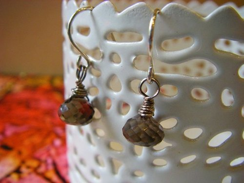 OldNew Lady- [citrine] - Gemstone sterling silver earrings