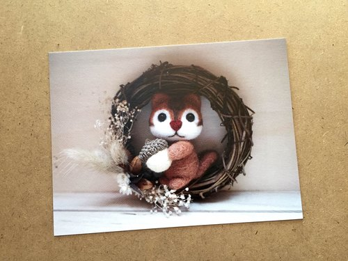 Petwoolfelt Postcard03-Squirrel