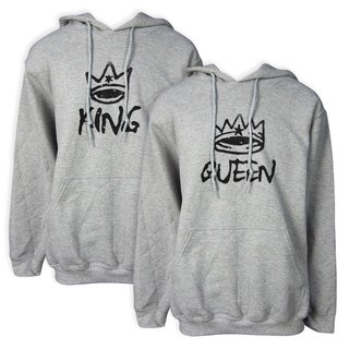 Valentine's Day Gift King Empress American GILDAN Cotton Soft Texture Couple Hooded T-Shirt 2 In