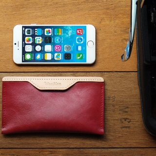 Leather Phone Case for iPhone 6/7/8 ( Custom Name ) - Lord Red