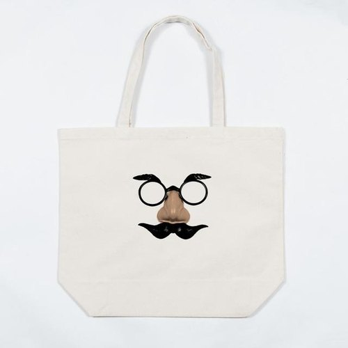 Uncle Tote back of canvas bag pince-nez