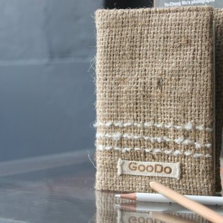 [Good service] GOODO handmade linen × coffee / log books clothes / slipcase / PDA / passport holder