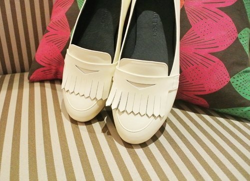Carrefour full leather tassel shoes - beige (Pre)