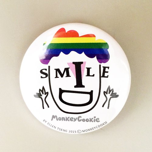 Badge keep smiling