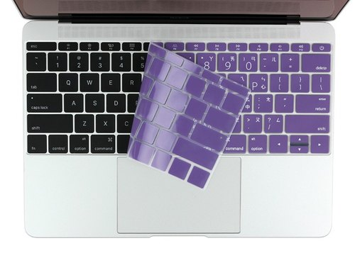 BEFINE New Macbook 12-inch Chinese keyboard protective film white on purple (8809402590773) This version has a phonetic [2016 Macbook Pro 13 applicable) not applicable] Touch Bar