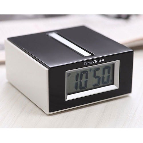 Time Vision - Fashion Square multifunction electronic alarm clock (stylish black)