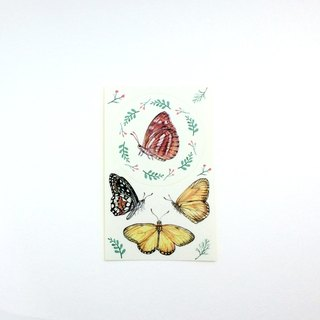 Stickers brown butterfly