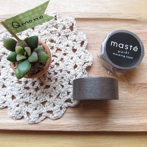 maste Masking Tape and paper tape Basic retro warm colors [coffee (MST-MKT04-BR)]
