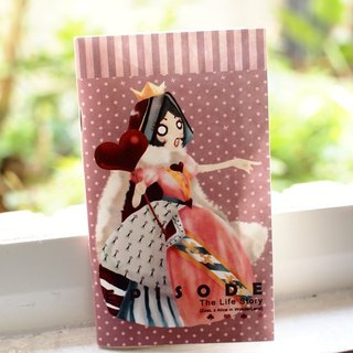 Pocket notebook ZoeL * * * Queen Red Queen Alice Alice own illustration