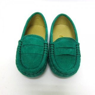 Fort Tony Wang matte leather handmade shoes kids [/ bean bottom / green]
