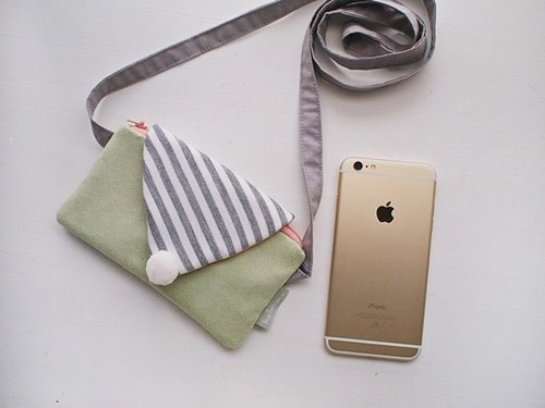 hairmo. Suede fringe Macaron with lid dorsal phone package (light apple green)