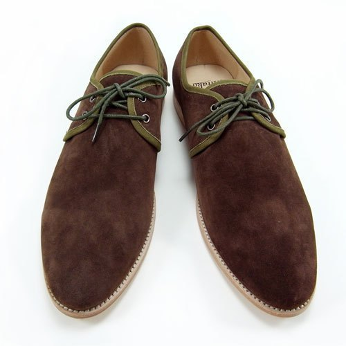 Sweet Villians 英倫麂皮Derby Shoes Casual Style 98291,咖啡棕