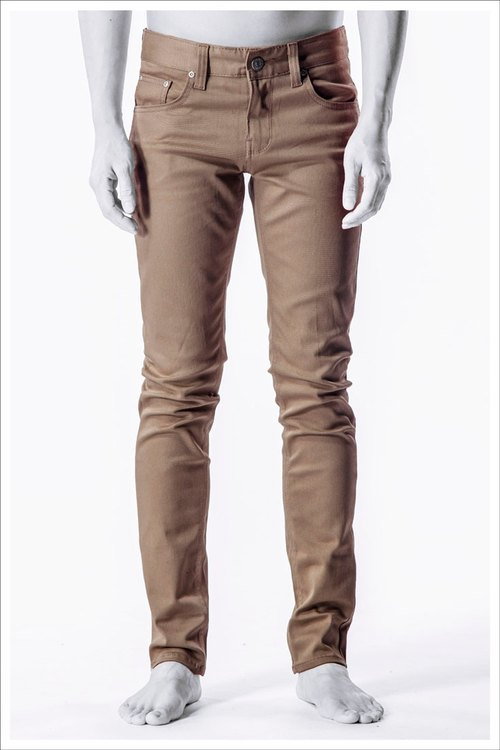 The Badroom Dance Slim solid color casual pants / khaki