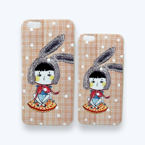 Sugar bag lady buns series iPhone6 ​​/ 6plus silica all-inclusive relief Phone Case