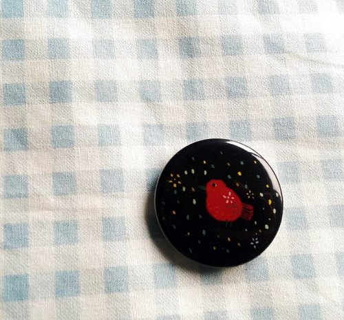 Xiong Xiu Xiu / red birds / small badge