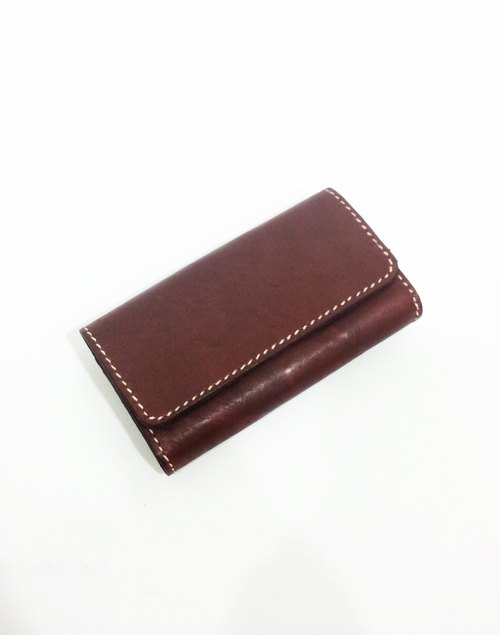 Customization. Horizontal double compartment handmade leather purse / phone package