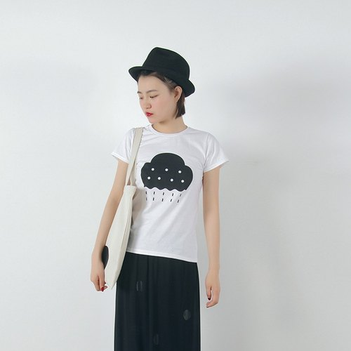 Rainy season short-sleeved T-shirt T-shirt