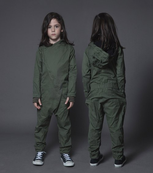 2015 fall and winter clothes Tide brand NUNUNU class jumpsuit / aviator overall