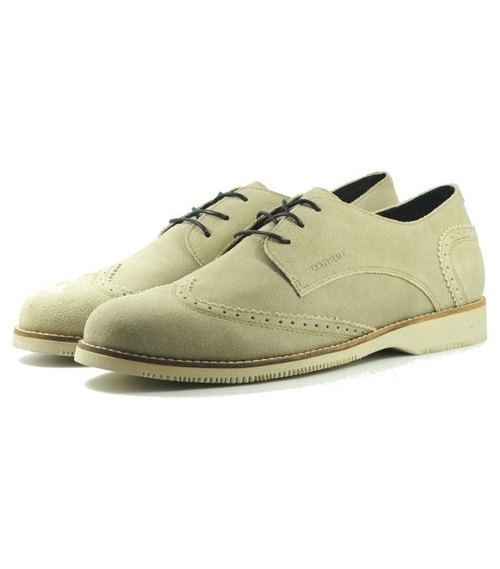 [Dogyball] Autsin classic carved Oxford shoes nude color England College Wind