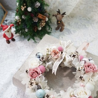 Amaranth stars flowers - white Christmas wreath*exchange gifts*Valentine's Day*wedding*birthday gift