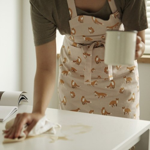 Dailylike Home Time cloth aprons -04 fox, E2D89206