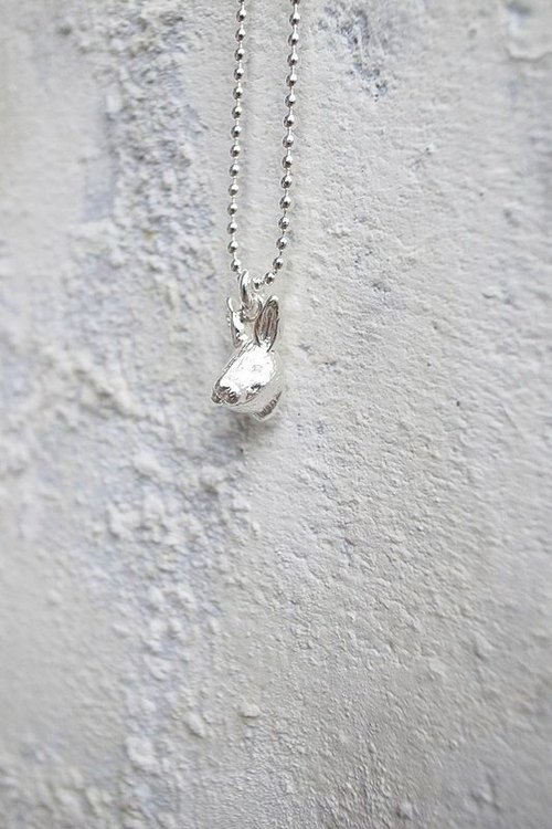 Human Free Series~Silver Mini Rabbit Necklace