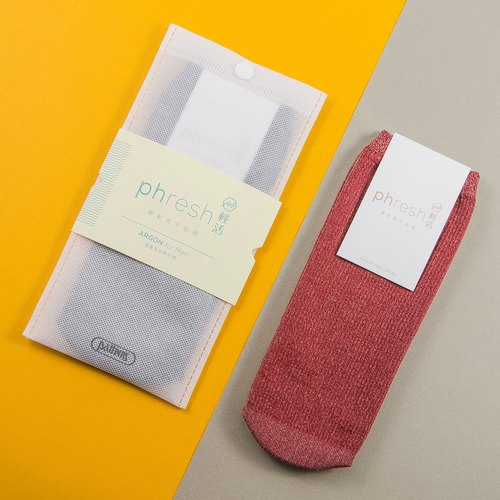 Elegant Argon - enthalpy light warm male socks - iodine red