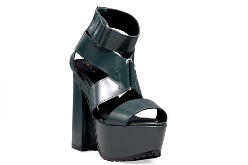 [French] sent straight fashion design high-heeled sandals - Black (Pre-Order)