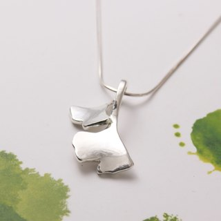 Sterling Silver Necklace / Ginkgo Leaf