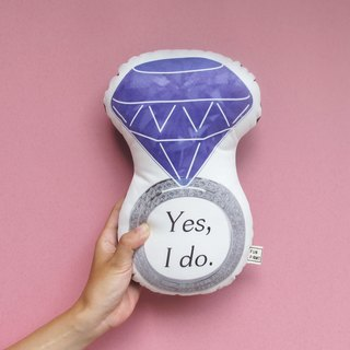 【Fun Print】  Yes I Do Ring pillow