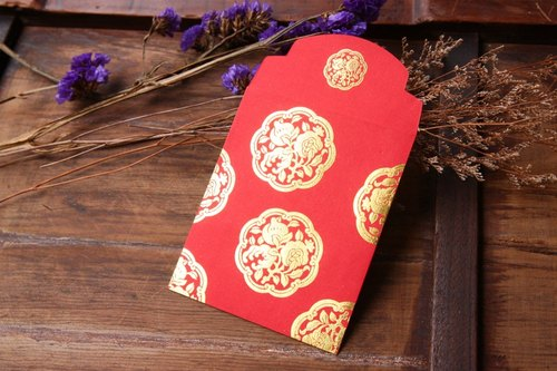Red Envelope/Gold Stamping in Chinese Auspicious Pattern/Small Size