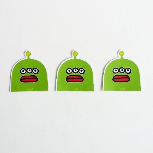 1212 fun design waterproof stickers funny stickers everywhere - Radio aliens