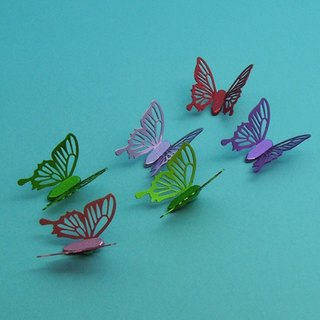 Desk + 1 │ cold crushed butterfly magnet group (6 Pack) - colorful color