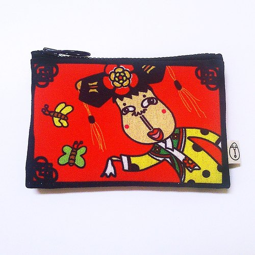 """People person"" fun illustration purse - also chirp Princess (face wrapped / dual purse / waterproof / gift)"