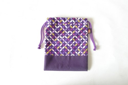 ✎ Japanese pattern totem | Drawstring / 3C bag / Universal Bag | purple | Great