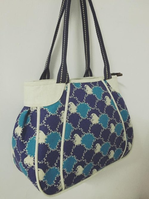 ﹝ Clare calico cloth hand-made ﹞ pumpkin retro bag hand / shoulder
