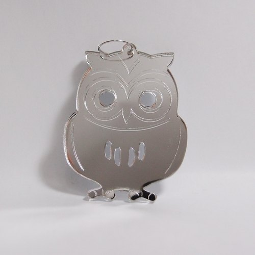 I love the zoo - Mirror Owl Acrylic key ring