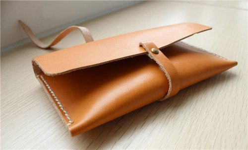 sobag original design handmade vegetable-tanned cowhide leather purse hand bag phone package