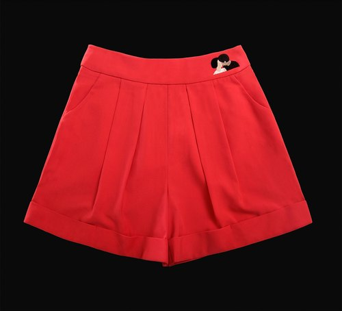 MSKOOK skirts wide leg pants - red