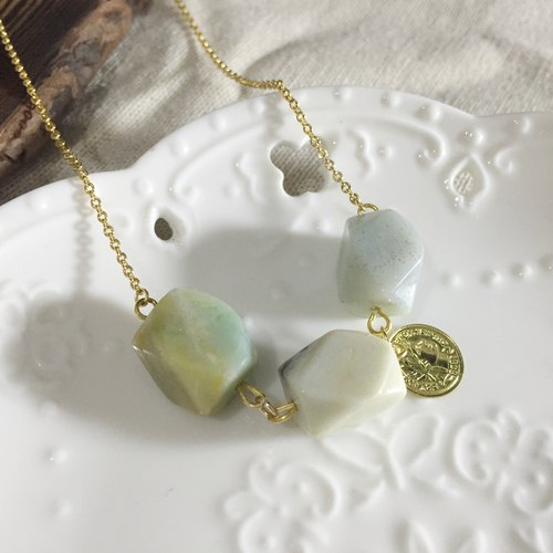 [Series] amazonite natural stone 18K gold necklace gold · manual · handmade jewelry · handmade jewelry ·
