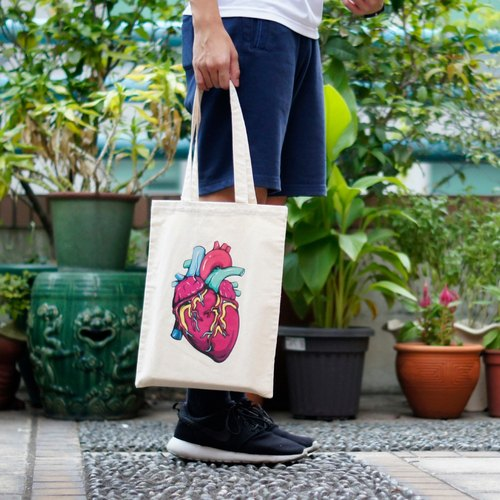 [Let you see the real me] A4 canvas bag
