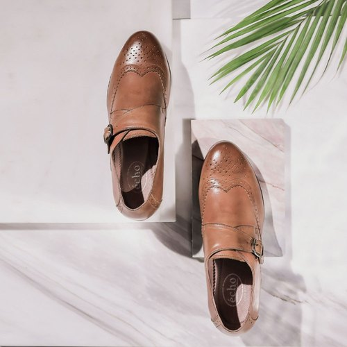 e cho. Shen Ya rub coloration mouth single shoes ║ec28 brown buckle Munch