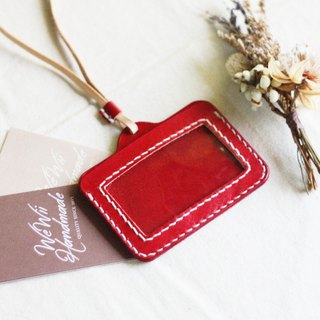 Handmade Genuine leather necklace holder   Card case
