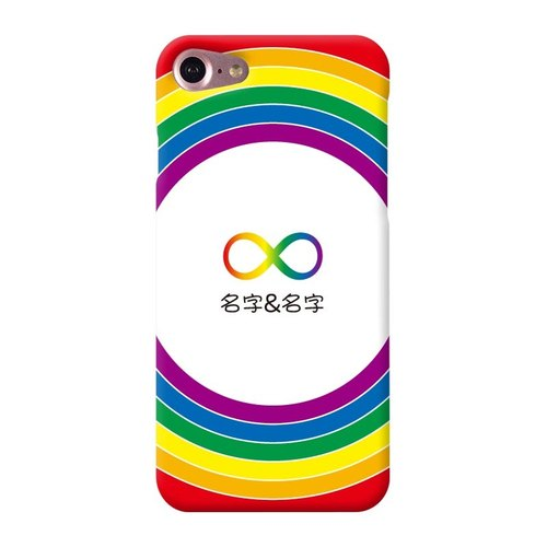 Rainbow【LGBT-Unlimited】iPhone 8 / 8 plus, 3D embossed printing with Global NFC card phone case I AM I Boutique & Design
