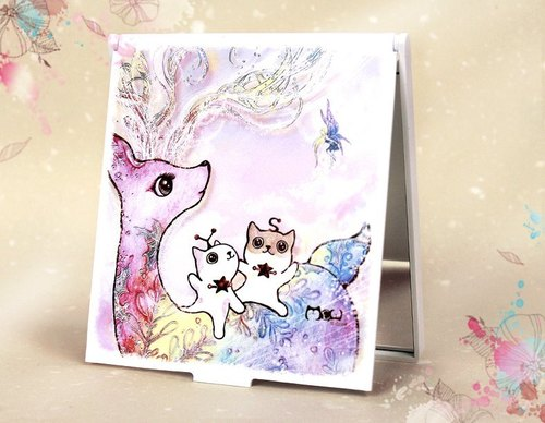 Snowflake Deer / exquisite hand-painted square Mirrors